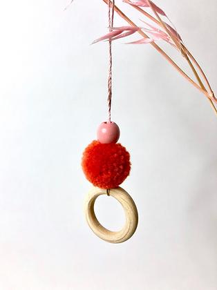 "Deko - Anhänger ""Pompon Ring"""