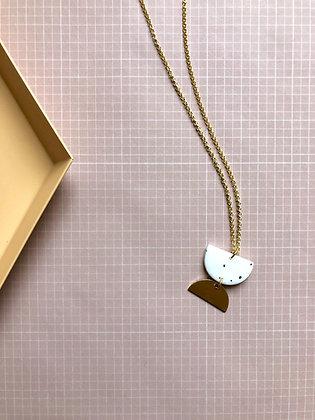 "Necklace Poly-Brass ""Yoko"""