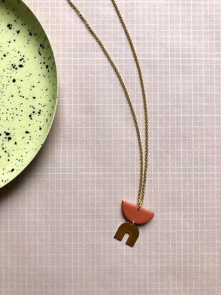 "Necklace Poly-Brass ""Lumi"""