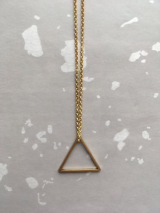 "Goldkette Necklace ""Triangle"""