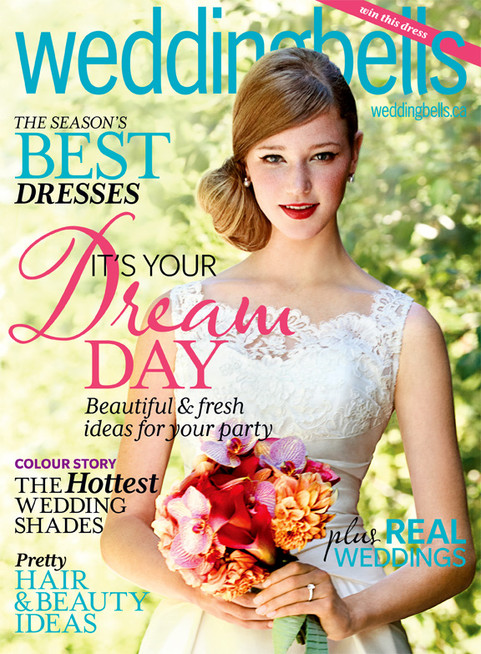 Wedding Bells Magazine Feature - Blue and White