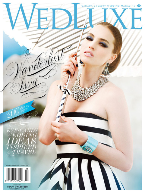 WedLuxe Feature - Summer Fall 2013