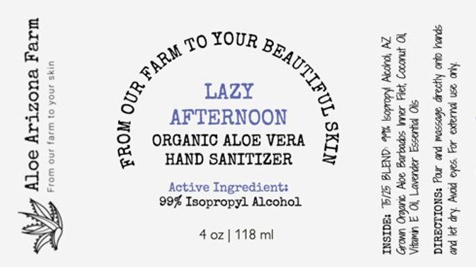 Hand Sanitizer - Lazy Afternoon - Lavender