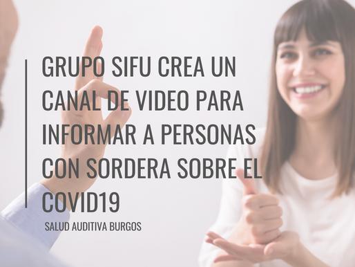 Se crea un canal de vídeo para informar a las personas sordas sobre el Covid19