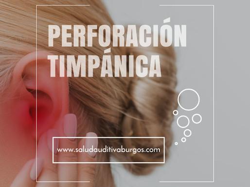 Perforación timpánica