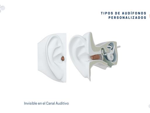 Tipos de audífonos personalizados