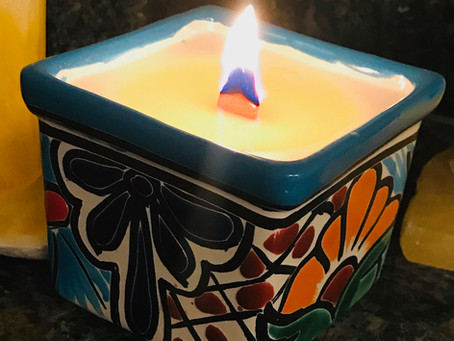 Newly Released: Talavera pottery candle