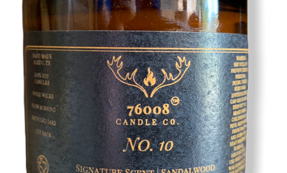 16 oz. No. 10 Sandalwood