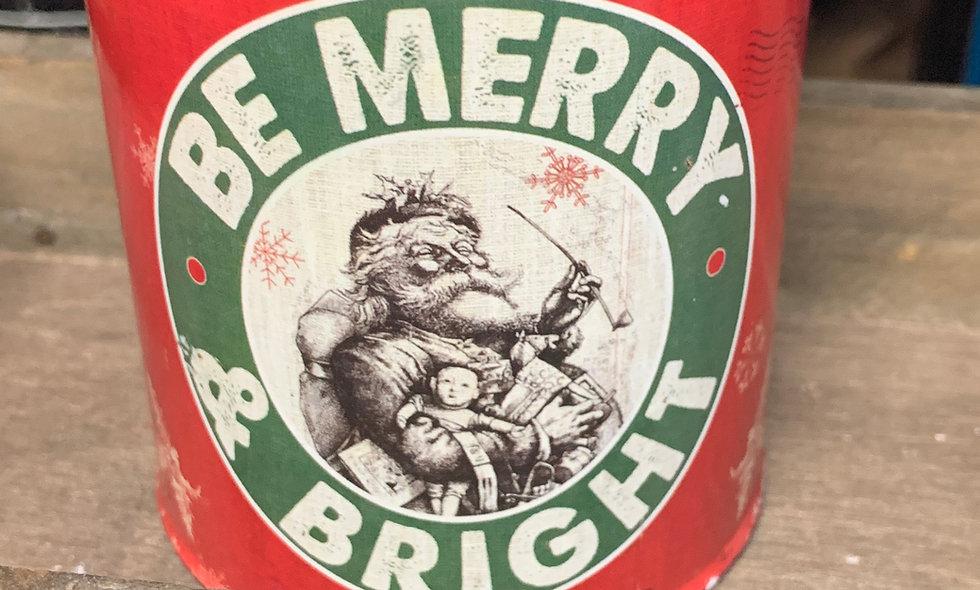 """Vintage Christmas"" in Santa Merry Christmas Tin"