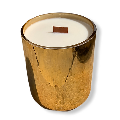 """13 oz.""""Sweet Ava"""" Soy Candle in Beautiful Metallic Gold Glass"""