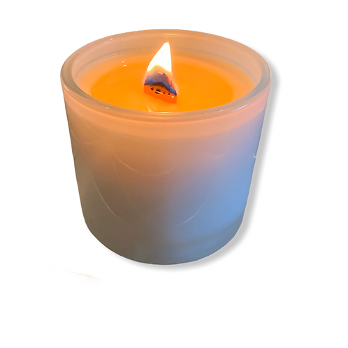 """13 oz. """"Sweet Ava"""" Scent in Gorgeous White Aura Glass"""