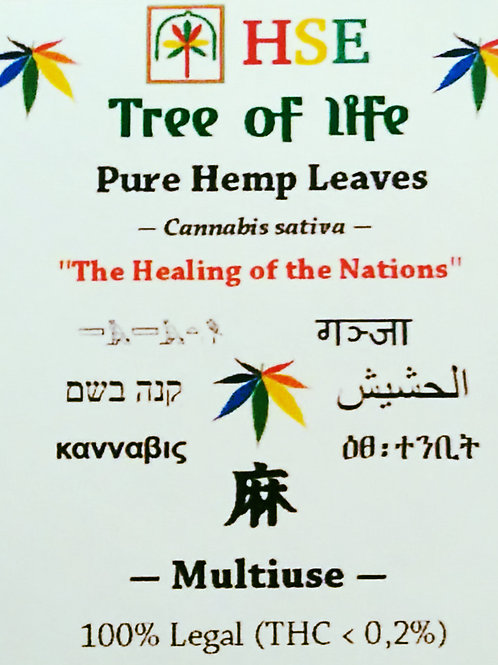 Pure Dry Hemp Leaves - 30 gr