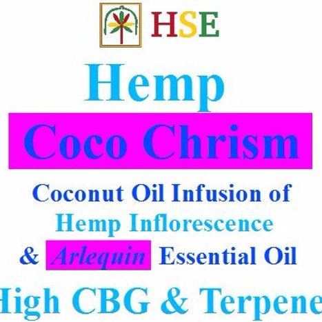 "50 oz - High CBG & Terpenes Coco Chrism ""Arlequin"""