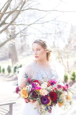 Rich Colored Bridal Bouquet