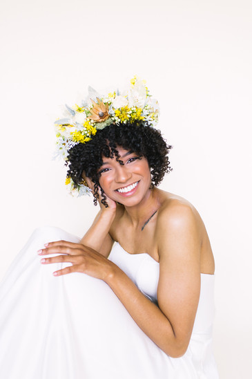 Yellow and Orange Flower Crown