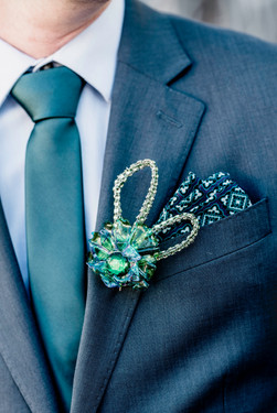 Chihuly Inspired Boutonniere