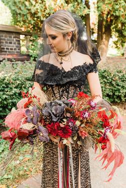 Gothic BoHo Bridal Bouquet