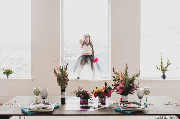Winner of Out Of the Box Challenge on Catalyst Wedding blog and featured on Burgh Brides