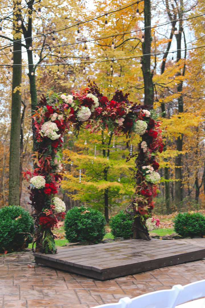 Ceremony Arch at The Grand Barn at the Mohicans