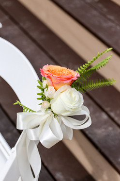 Coral and Ivory Aisle Marker