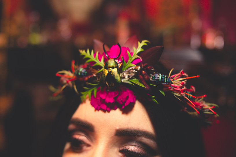 Floral Crown with Beetles