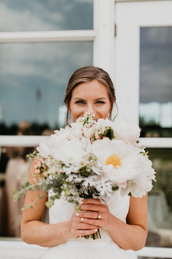 Bridal bouquet with peonies