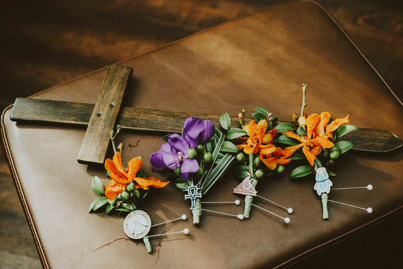 WOW Themed Boutonnieres