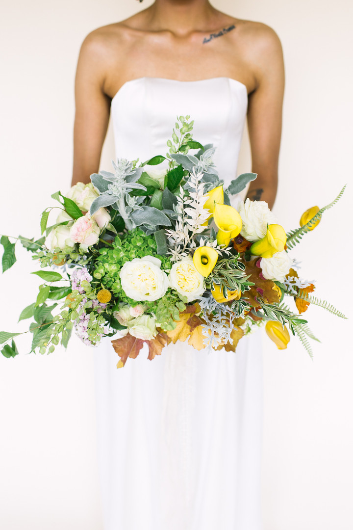 Yellow and Orange Bridal Bouquet