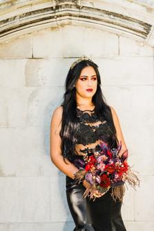 Gothic Round Bridal Bouquet