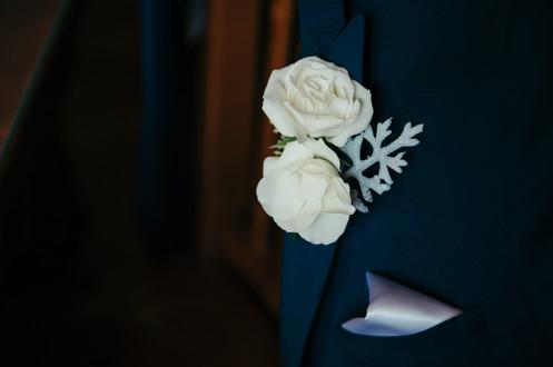 Ivory Spray Rose Boutonniere