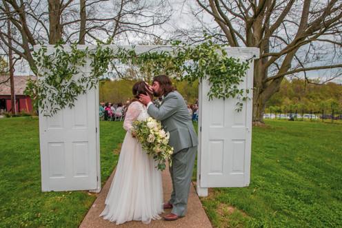 Ceremony doors at Pinehall