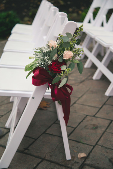 Burgundy and Blush Aisle Marker