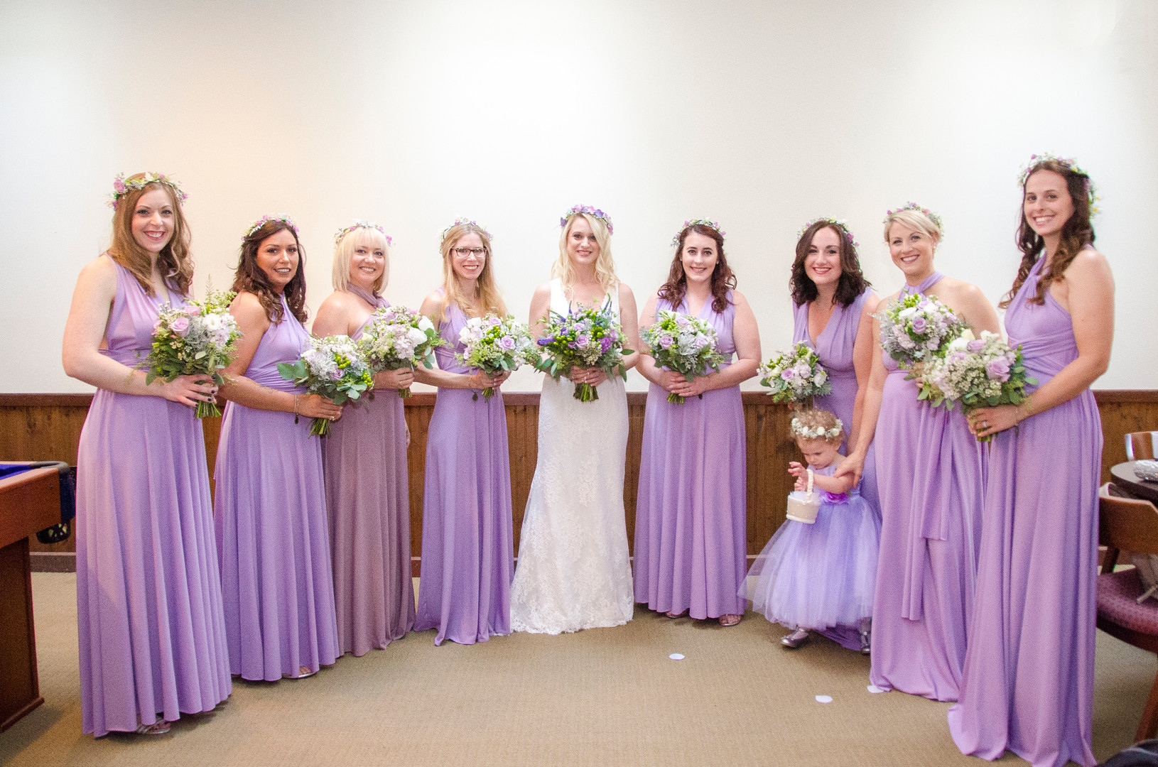 Lavender and purple bouquets