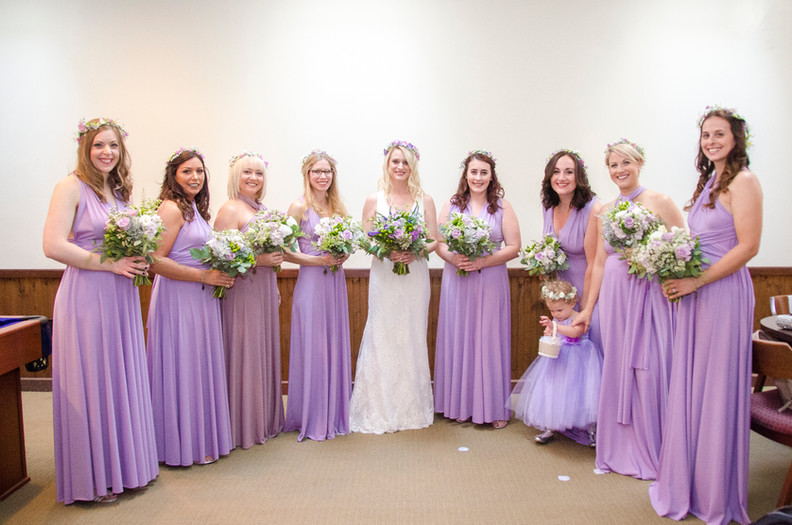 Lavender and purple bouquets