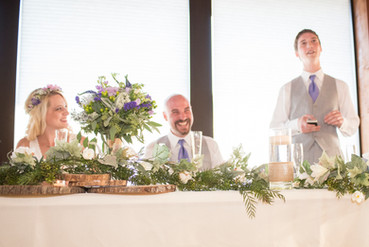 Head table decoration with bouquet