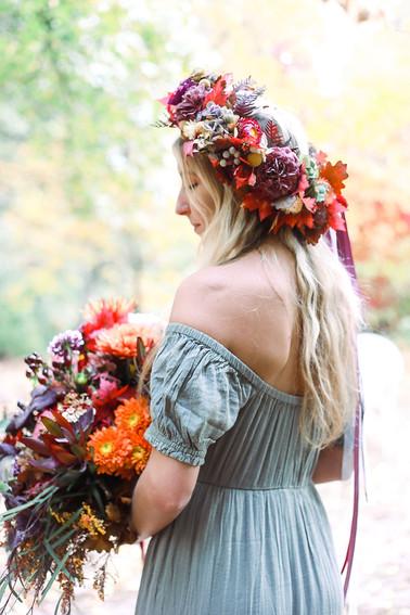 Fall BoHo Floral Crown