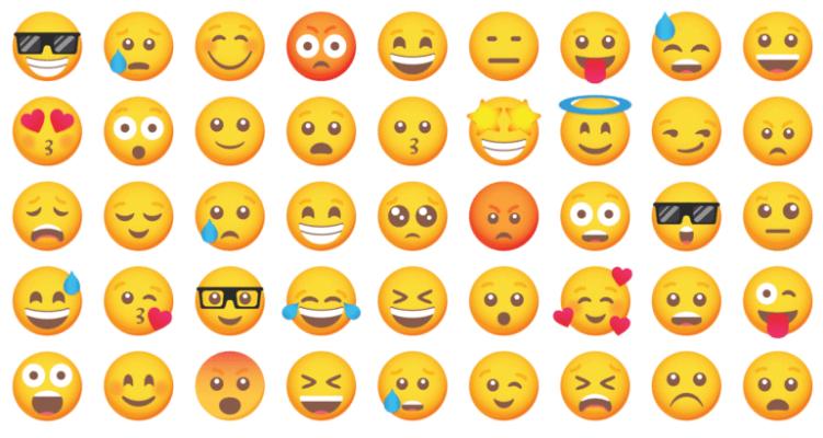 Grid of various emoji