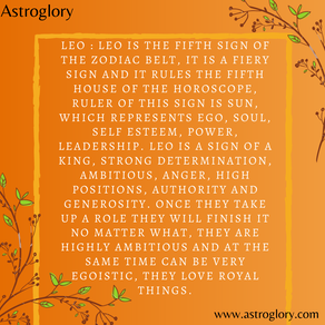 A brief description of the zodiac sign - Leo!