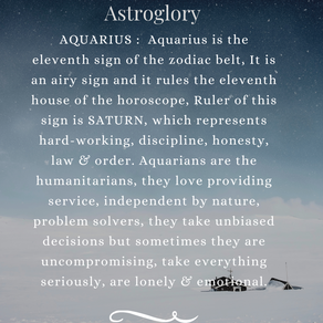 A brief description of the zodiac sign - Aquarius!