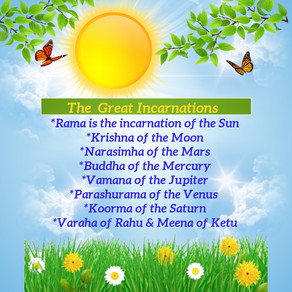 The Great Incarnations of the Planets in Vedic Astrology!