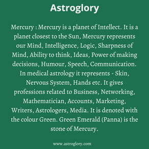 The Planet Mercury In Vedic Astrology!
