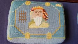 Kneeler depicting St Lawrence