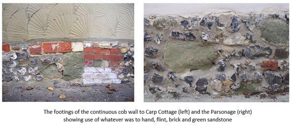 Carp Cottage & The Parsonage Cob walls.j