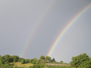 Double rainbow over Old Sarum
