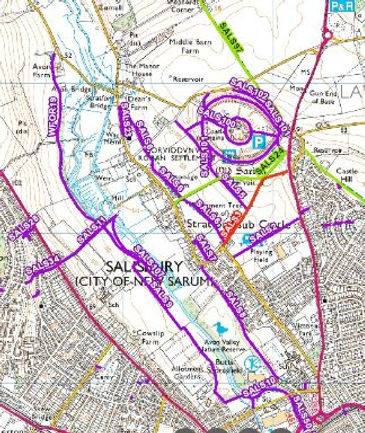 definitive footpath map as at 25 Aug 202