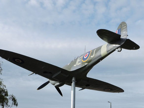 Spitfire memorial and a flypast