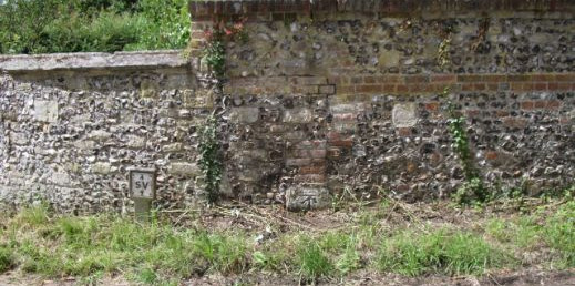 Benchmark on Little Durnford wall
