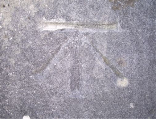 Benchmark ODN St Lawrence Church (close up)