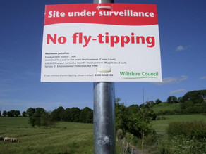 Fly Tipping warning signs go up