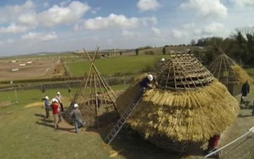 Neolithic style huts at Old Sarum 2013.j